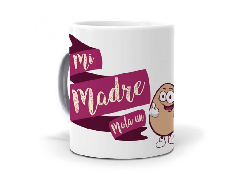 Pack original y personalizado ideal para regalo familiar a madres. Mi madre mola un huevo.
