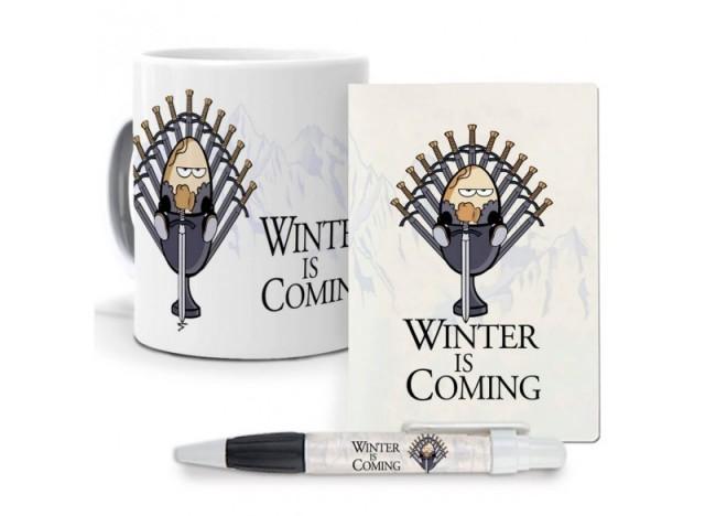Pack original y personalizado ideal para regalo, series, personajes famosos, Winter is coming. Juego de Tronos.