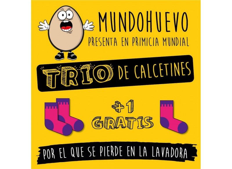 Trio de calcetines originales ideal regalo familiar a madres. Mama te queremos un huevo. 1 gratis por el que se te pierde